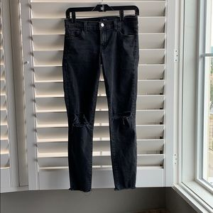 J BRAND Low Rise Crop Skinny